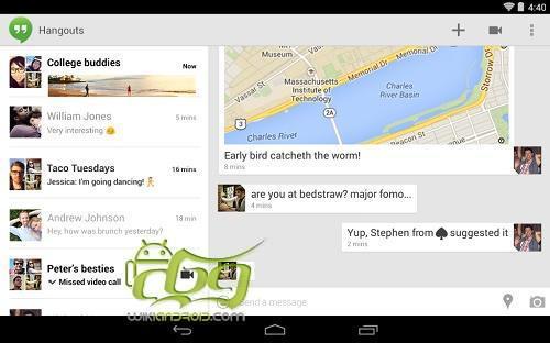 دانلود Hangouts اخرین نسخه نرم افزار چت گوگل هنگ اوت اندروید