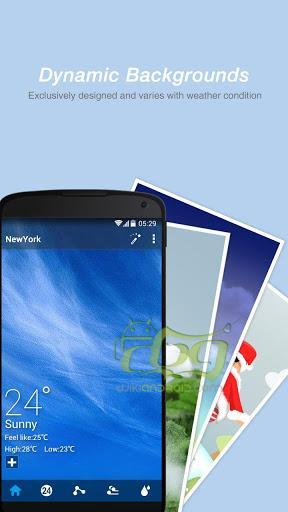 دانلود GO Weather Forecast & Widgets برنامه هواشناسی