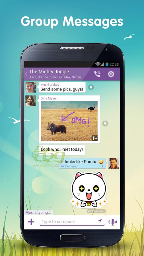 Viber Lite به شما اجازه می دهد با دوستان خود در سراسر جهان تماس رایگان حاصل نمایند.