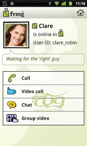fring Free Calls, Video & Text چت تصویری گروهی فرینگ اندروید